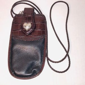 Brighton Leather phone or Eyeglass Bag Case